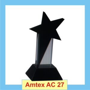 Black Star Trophy with large star on the top