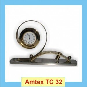 Table Clock In Silver and gold colour