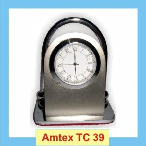 Silver Table Top with clock