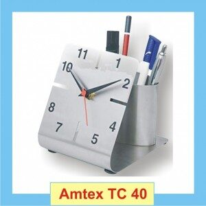 Table Top Clock With Penholder