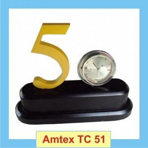 50 number themed round analog clock