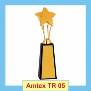 metallic Star Trophy with Hieghted base