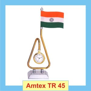 Indian flag Table top with Clock