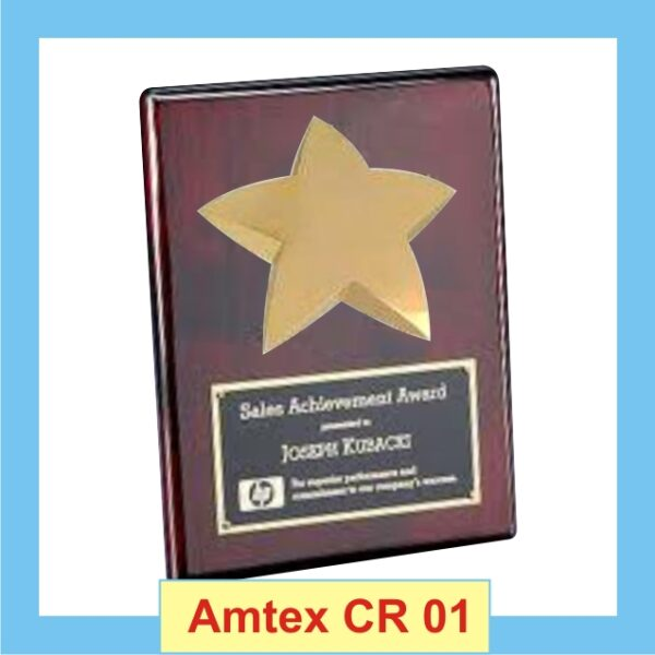 Solid Wooden Star Certificate