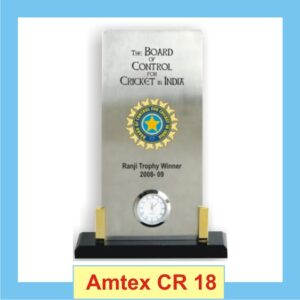 Metal Shield Trophy With Watch