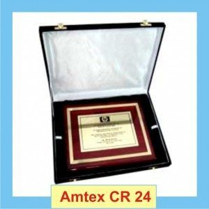 Brass Shield Certificate with case
