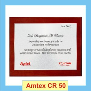 Wood Shield Certificate with red borders