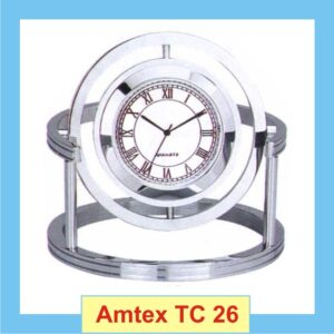Disk clock with glass frame